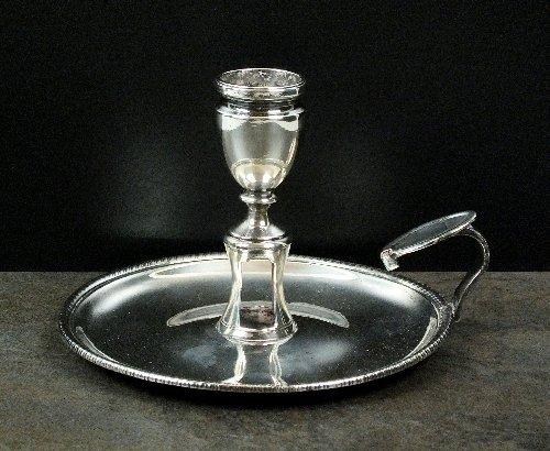 A George III silver chamberstick, John Emes, London