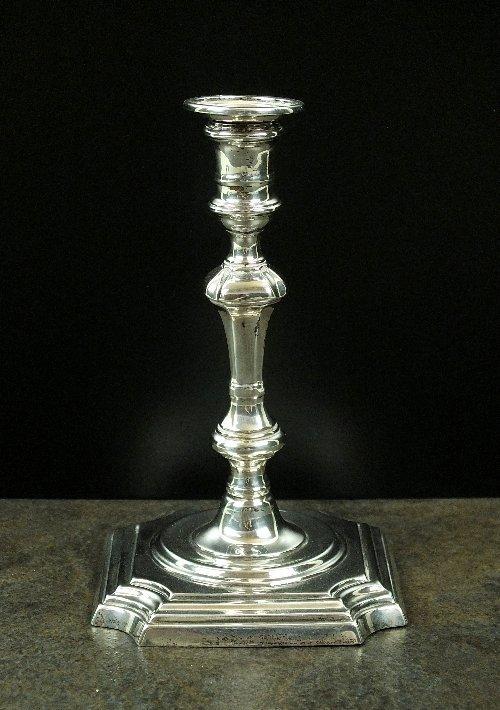 A Victorian silver taperstick, Thomas Bradbury & Sons,