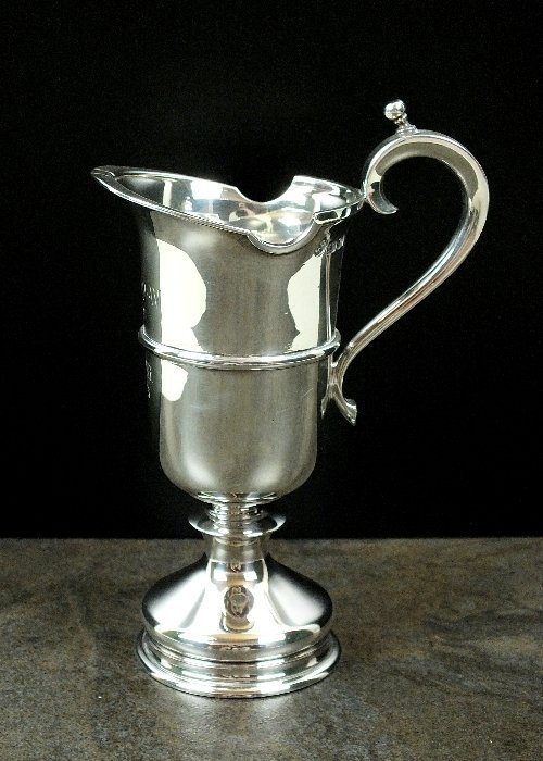 A silver cream jug, Historical Heirlooms, London 1972,