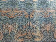 A William Morris Arts & Crafts woven wool curtain,