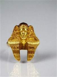 A John Brogden Archaeological revival gold Pharaoh
