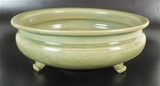A Chinese Longquan celadon censer, Ming Dynasty, late