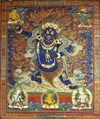 A thangka of Mahakala, Tibet, 18th/19th century,
