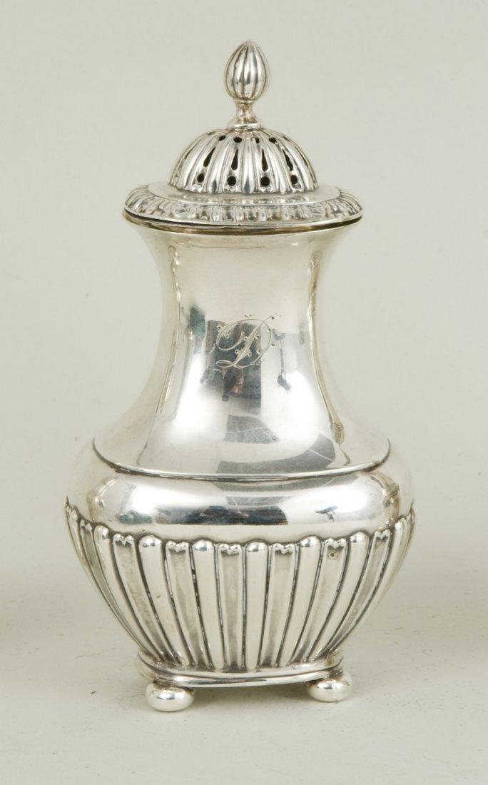 A late Victorian hallmarked silver sugar caster,