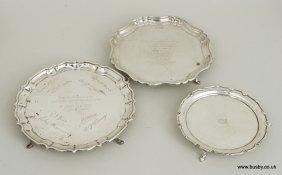 An Edward VII hallmarked silver salver Chester 1908,