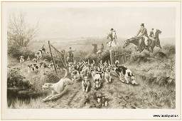 Thomas Blinks. A set of four fox hunting prints. Each,