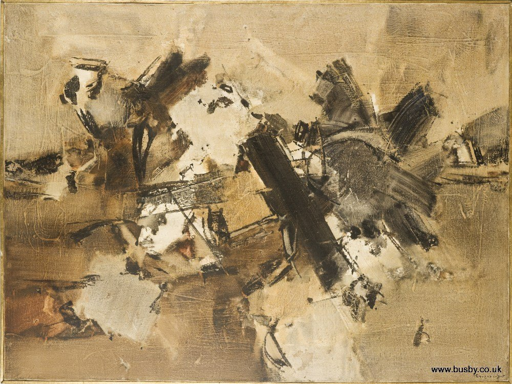 Yannis Spyropoulos. (1912-1990), In the past. Oil on
