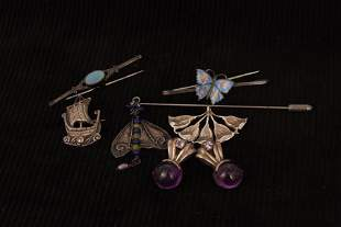 Sundry silver and enamel jewellery etc, including an