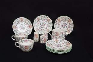 A Mintons, Haddon Hall pattern bone china tea service