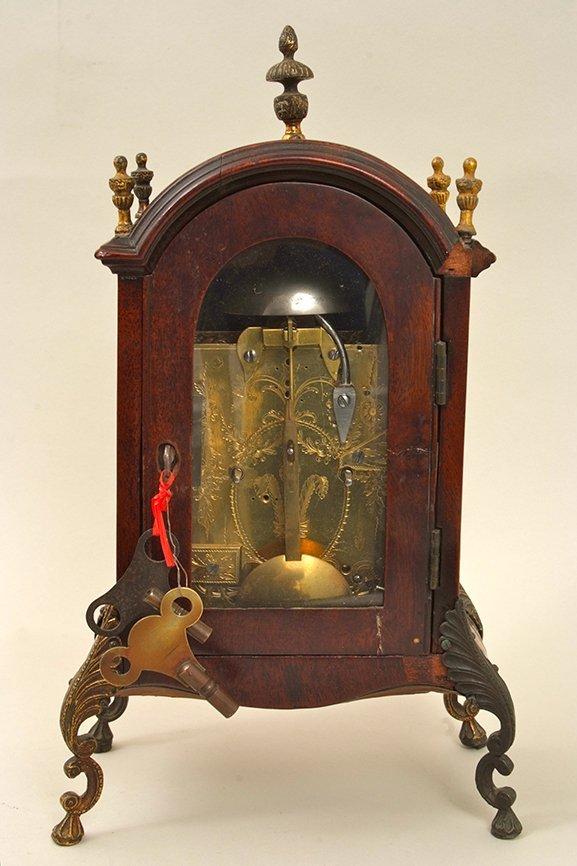An antique ormolu mounted mahogany bracket clock, the - 2
