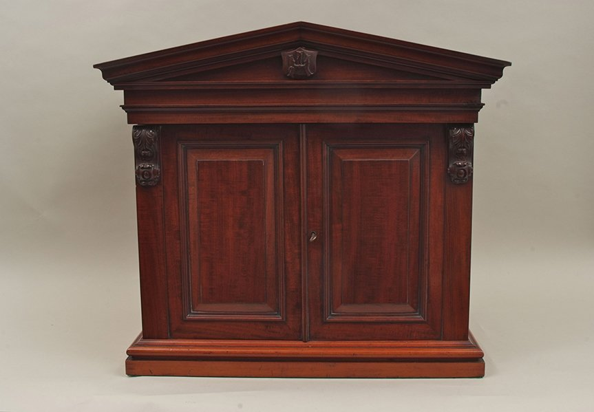 An early Victorian mahogany collector's cabinet of - 2