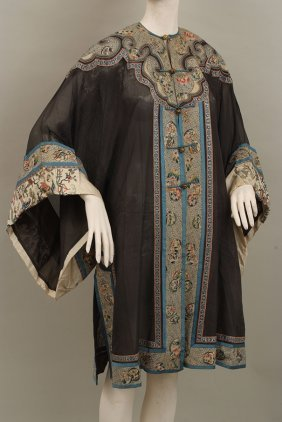 Antique Chinese Robe. This robe is made from a fine