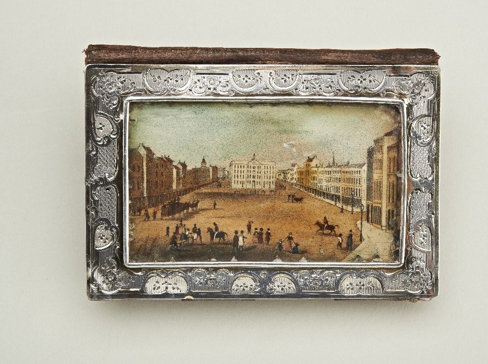 An early 19th century French silver card case, by