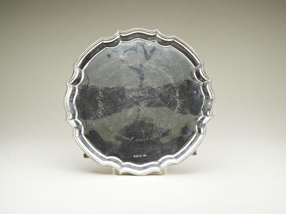 A Roberts & Dore Ltd hallmarked silver salver (792g),