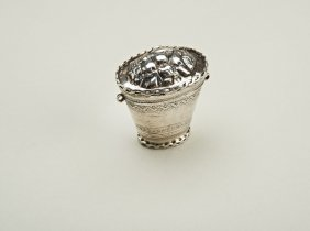 A 19th century Dutch silver peppermint box by Henrik