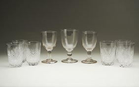 A collection of glasswares: Three Rummer glasses, early