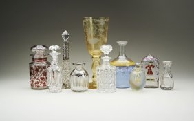 A collection of glassware including an 18th century
