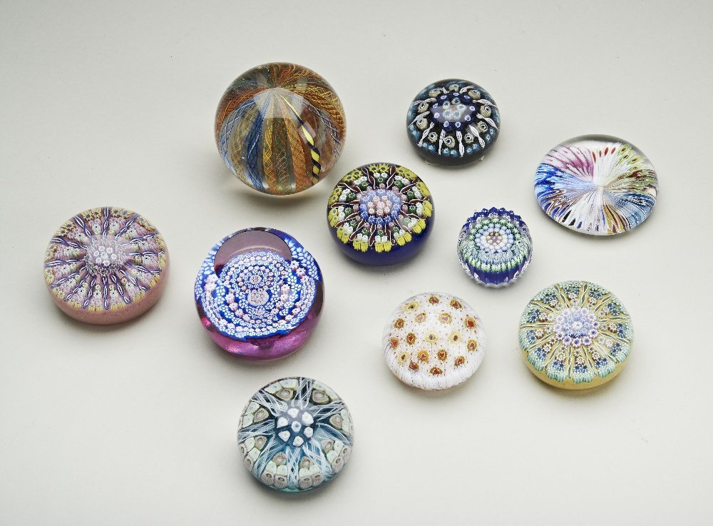 A collection of paperweights: British and continental