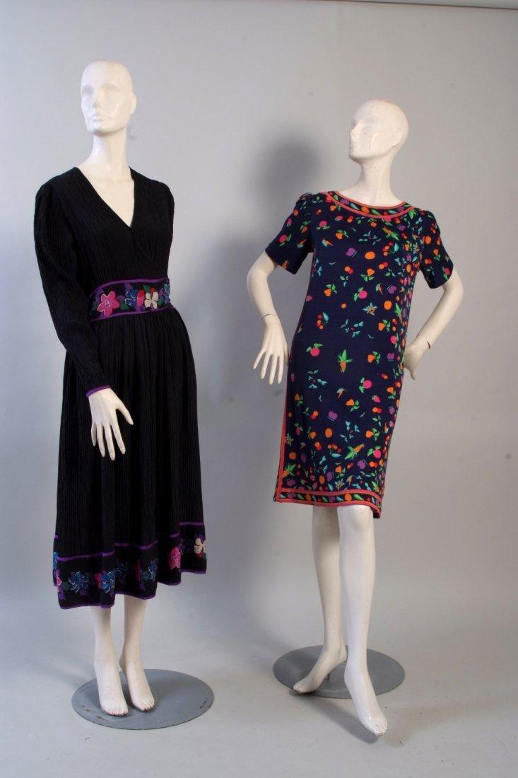 1970's 'Mary McFadden' Silk Dress.   A pretty black