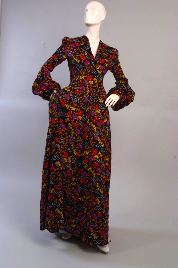 A 1970's Floral Cotton Maxi Dress.  This beautiful