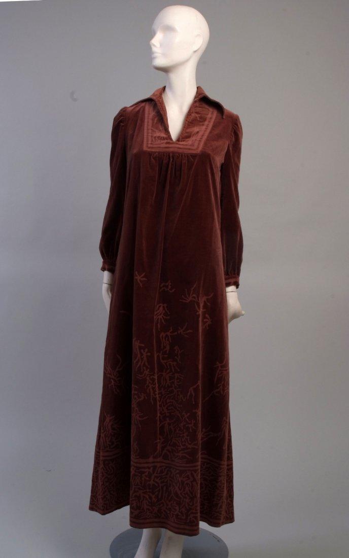 A 1970's 'Kate Beaver' Hand printed dress 'Little