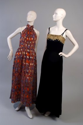 A Group of Three Evening Dresses. To include a 1980's