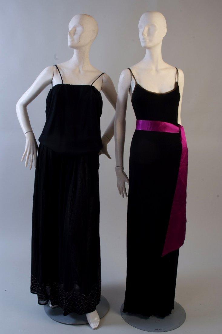 A 'Zandra Rhodes' Slinky black jersey dress. With