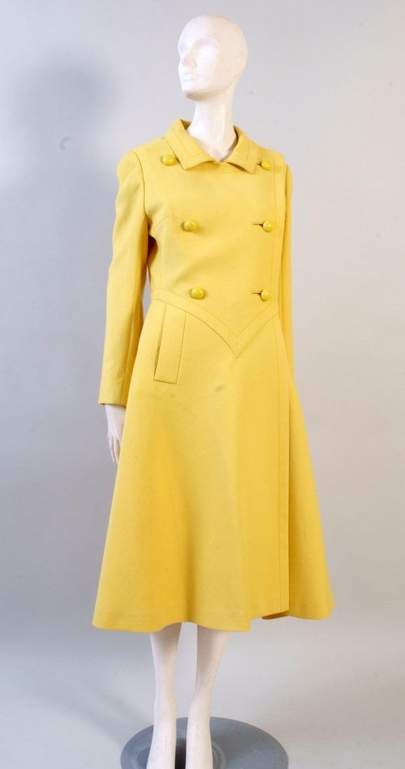 A 1960's 'Pierre Cardin' Coat. This beautifully