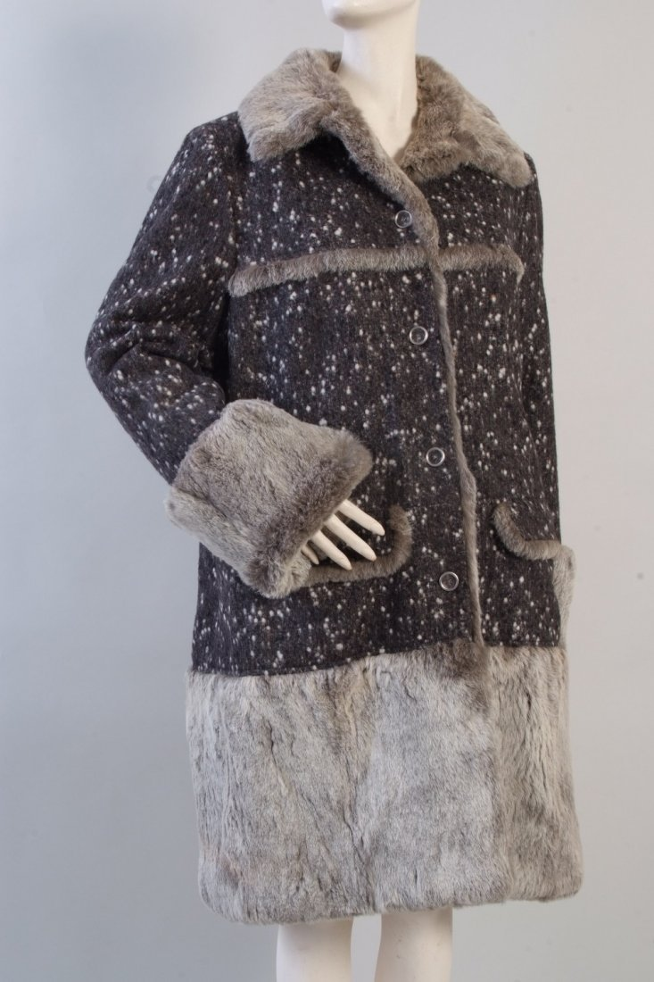A 'Coco Chanel' Fur & Wool Coat.  This luxurious and