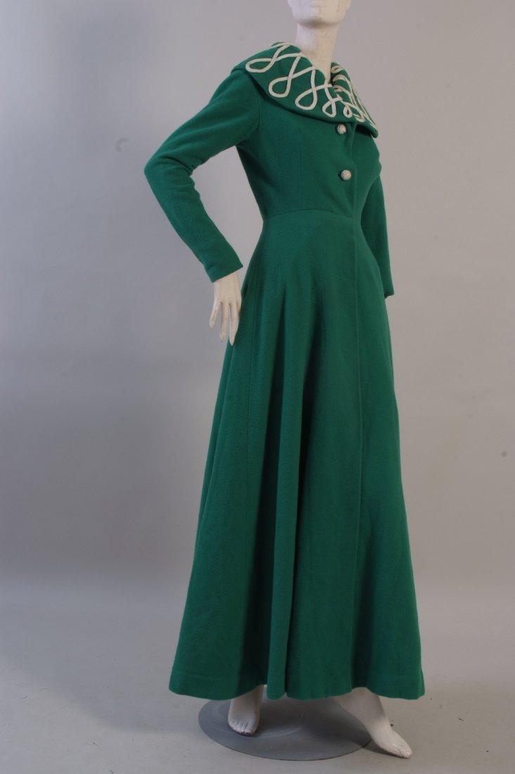 A 1953 'Belville et Cie' formal day/evening coat.  An