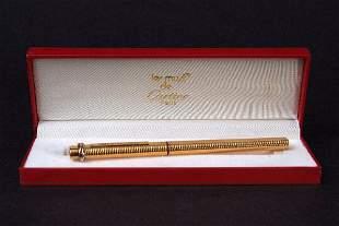 A Cartier gold plate Vendome ball-point pen