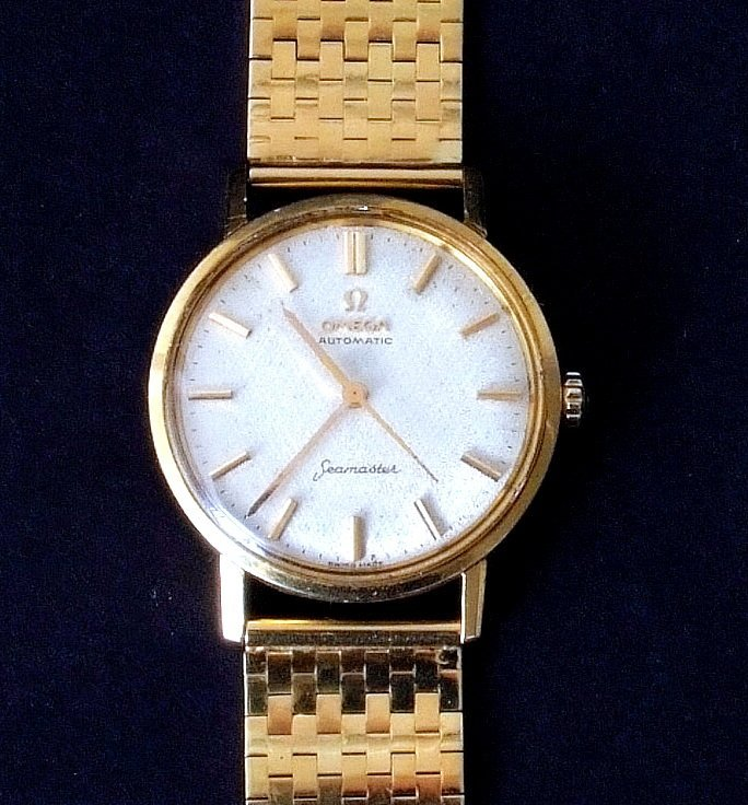 Omega, Seamaster, gentleman's 18ct gold wrist watch,
