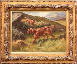 Thomas Blinks (British, 1860 - 1912) Two Irish Setters
