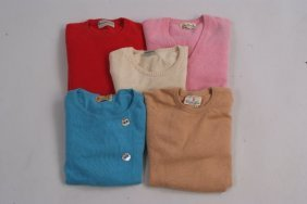 Five Vintage cashmere jumpers to include a Red ''Duncan