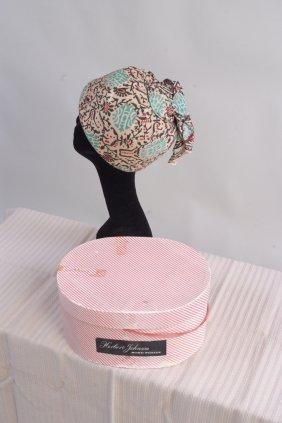 A 1960's 'Herbert Johnston' Hat and 'Rhona Roy' Dress.