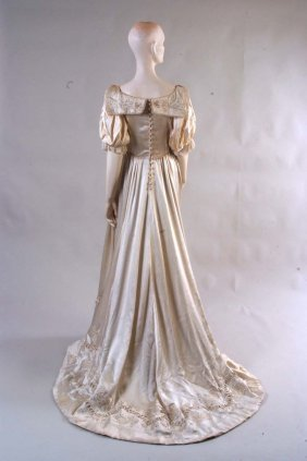 1903 Wedding Gown embroidered by the Royal School of