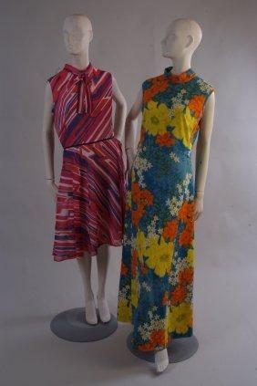 A 1960's 'Horrockses Fashions' summer shift dress.