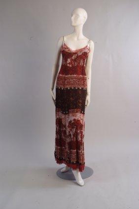 A 'Jean Paul Gaultier' Hiva Or mesh dress.  Depicting