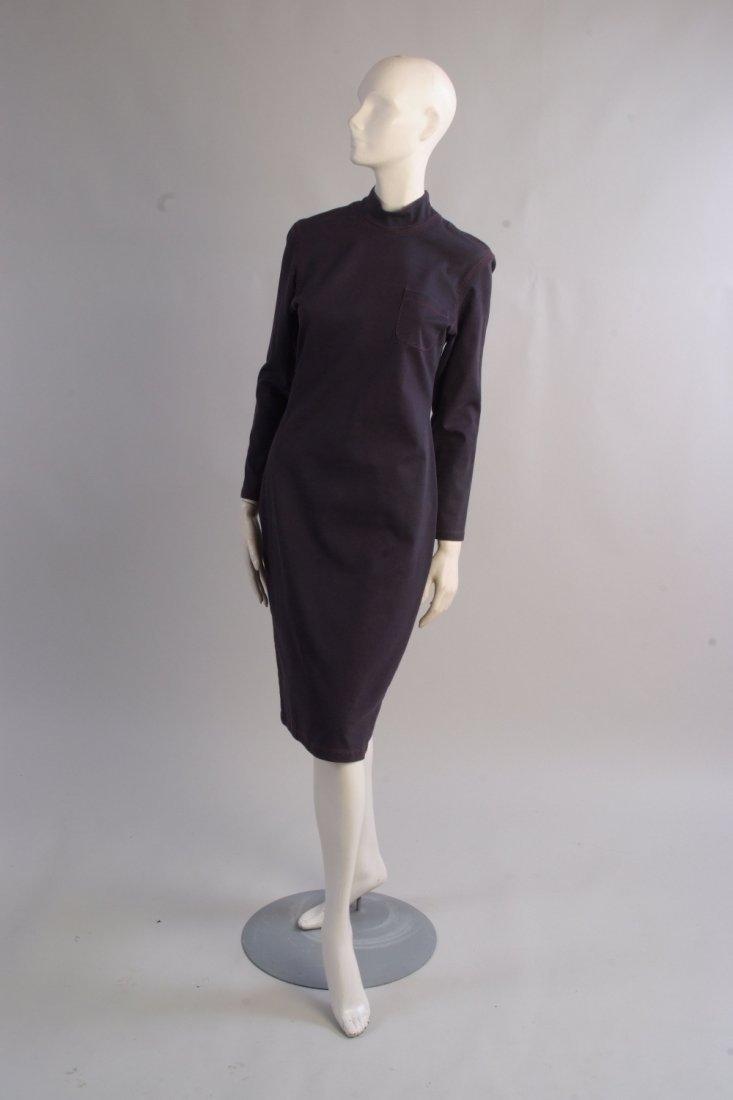 A 'Jean Paul Gaultier' jean dress.  Soft jean fabric