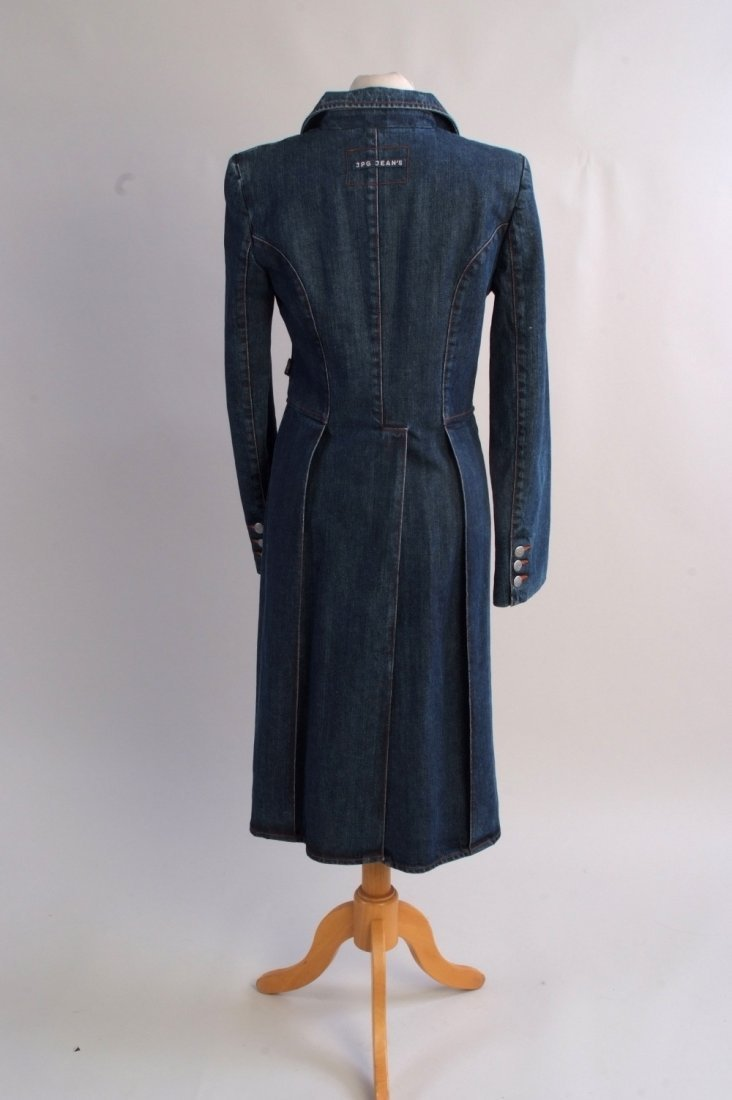 A 'Jean Paul Gaultier' denim tail coat.  A ladies jean - 2