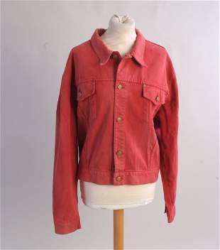 A Junior 'Jean Paul Gaultier' Bomber Jacket. A red