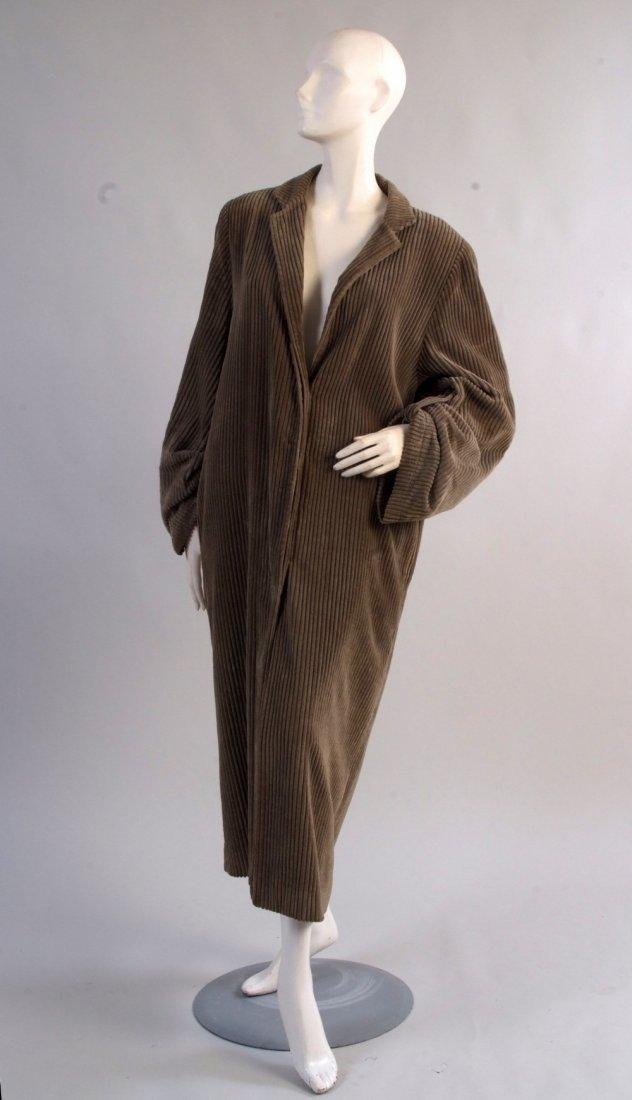 A 1990's 'Perry Ellis' Cord Coat.  A comfortable brown