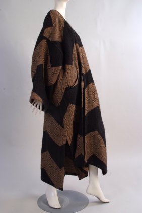 A 1980's Issey Miyake Wool coat.  Made from 55% linen