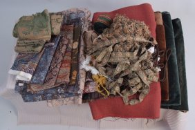 A large Bag Of Upholstery 'Liberty print' Fabric.  A
