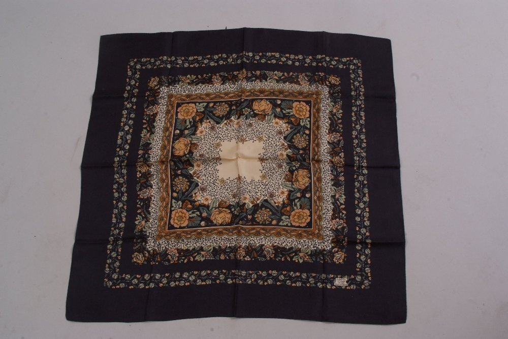 Two Vintage Silk Liberty Scarves. A 'William Morris'