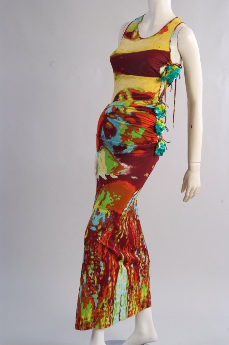 A 'Jean Paul Gaultier femme' Long Mesh Dress.