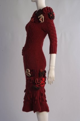 A Rare 'Alexander McQueen' Cable knitted dress. A truly