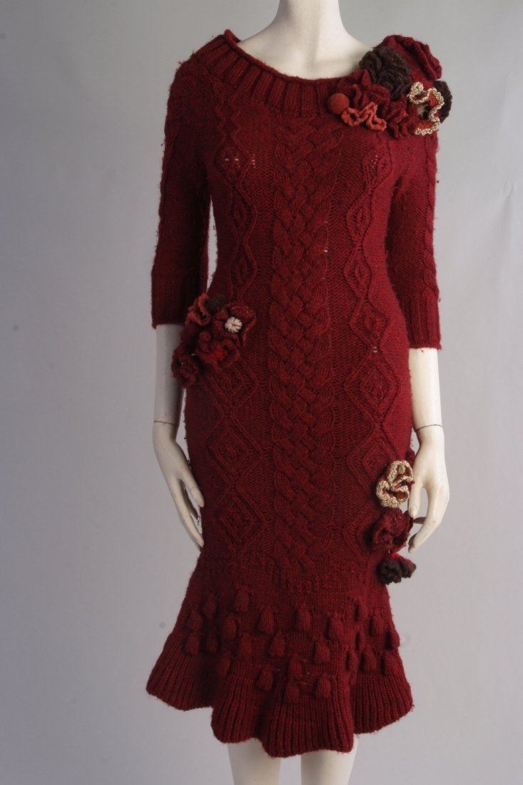 A Rare 'Alexander McQueen' Cable knitted dress. A truly - 2