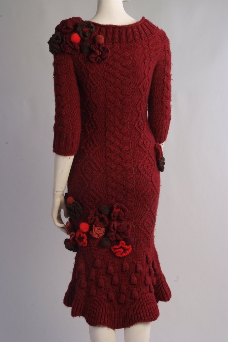 A Rare 'Alexander McQueen' Cable knitted dress. A truly - 3