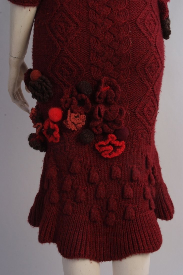 A Rare 'Alexander McQueen' Cable knitted dress. A truly - 6